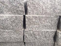 Quadratische Pflasterung des klassischen hellgrauen Granit-G341
