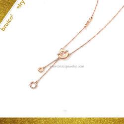 Rhodium van de Kleur van de Halsband van de Ketting van de Halsband van juwelen de Fabriek Aangepaste Zilveren Halsband van het Plateren voor Dames