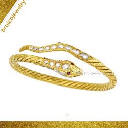 Braccialetto vermiglio animale del serpente dei nuovi di disegno di modo multi di colore di Hip Hop monili dell'argento sterlina con il diamante