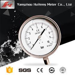 Todo de acero inoxidable de aceite de gas líquido Manómetro de presión, indicador de presión hidráulica, tubo Bourdon manómetro analógico
