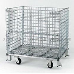 Serviço Pesado de fio de metal dobra empilháveis Gabião Roll cage contentor