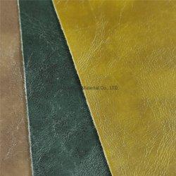 Dos tipos de aceite de PVC Impresión en color de piel de cuero de cera para muebles y de pared