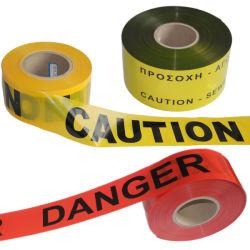 地下警告テープバリケードテープ探索可能な警告テープ
