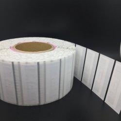 Contrassegno astuto dell'indumento di verde RFID della modifica dell'abito del rullo di Eco dell'intarsio passivo di carta amichevole di frequenza ultraelevata