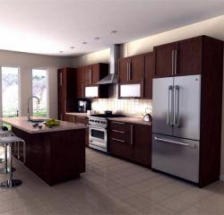 Madera maciza gabinetes de cocina kitchen cabinet mango de oro fotos de diseño de armarios de cocina