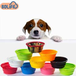 Animale domestico delle ciotole del silicone dei prodotti dell'animale domestico che piega ciotola d'alimentazione pieghevole ciotole portatili del gatto del cane ciotole portatili di corsa dell'animale domestico del cucciolo dell'alimentatore