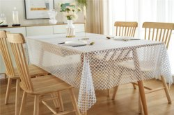 Usine de PVC de gros de la Dentelle XHM Tablecloth HD pour pique-nique dans le rouleau de tapis, de tapis PVC Cristal & Mat