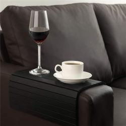 ソファー表の黒竹の木製の皿の飲み物のコースターのカップ・ホルダー