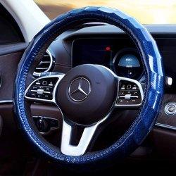 Alquiler de Coche brillante cubierta del volante de los hombres y mujeres del cielo lindo General Motors 14.5 15 pulgadas Anti-Skid Ola Tapacubos, azul