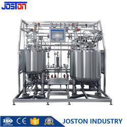 Arrefecimento elétrico a vapor em aço inoxidável revestimento duplo fermentação da liquidificadora Equipamento de depósito de mistura de bioreatores com agitador para solução líquida