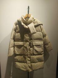 Популярные теплой зимы модных женщин Padding слой с капотом девочек одежду