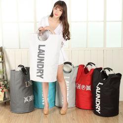 Comercio al por mayor grandes canastas de lavandería de almacenamiento plegable plegable Bolsa con asas