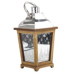 Специализированные батареи теплого белого Vintage деревянные мелодию старинной крытый поверхность стола светодиодный индикатор декор Рождество светильника с помощью рукоятки