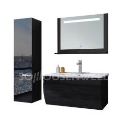 Muebles de baño negro de cuarto de baño Lavabos
