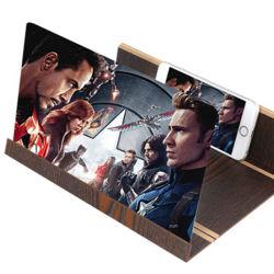 12 インチ木材グレイン携帯用 3D 薄型折りたたみ式携帯電話 アンプ