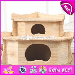 Nuevos Productos gracioso Sala de la actividad de Pet de madera de la naturaleza de la jaula Hamster W06F030
