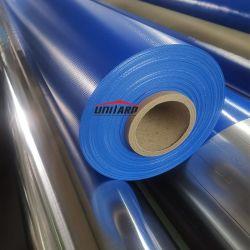 550gsm, 610 gsm, 650 gsm, 1000d 0,5mm 100% poliéster vinil do Rolo de tecido de PVC azul Tarp encerado revestido de PVC
