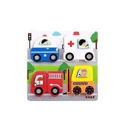 Новая конструкция воспитания детей дошкольного возраста деревянные игрушки дорожного движения формы 3D-головоломки