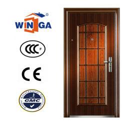 أحمر خشب لون أمن لون معدن فولاذ مدخل باب W-S-162