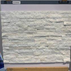 Mosaico artificial blanco brillante Piedra Natural cultivada al aire libre mosaicos de mármol pizarra baldosa Panel de pared