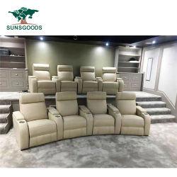 Ensemble Home Cinema de vente de sièges en cuir artificiel Théâtre Fauteuil inclinable canapé