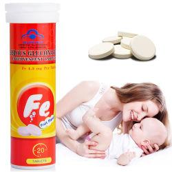 개인 상표 1000mg Iron Vitamin C Effervescent Tablets Boost Immunity Dietary Supplement