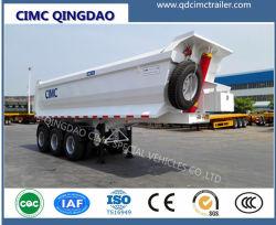 Cimc頑丈な3つの車軸30トン40トン45トン50トン60トントレーラー100トンのダンプの/ダンプカーのトレーラー/トレーラーを半ひっくり返すこと