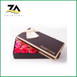 Beste Verkaufs-Valentinsgruß-Geschenk-Schokoladen-Blumen-Spitzenverpackungs-Papierkästen
