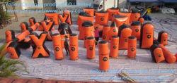 47 carbonili gonfiabili di PCS Paintball