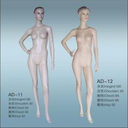 Alta calidad de pantalla personalizada mujer maniquí de plástico