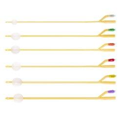 2-weg latex Foley-katheter met siliconencoating voor eenmalig gebruik