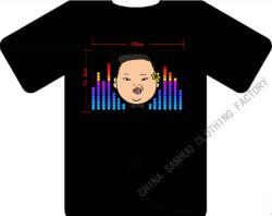 Il parco Jae ha cantato alto la maglietta infiammante 2013 di controllo di musica attivata del pannello di EL del LED suono luminoso