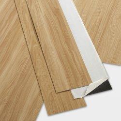 響きおよび棒の木製の穀物のビニールの床タイル新しいデザイン100*600cm自己接着PVC板