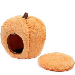 작풍 애완 동물 고양이 개 침대 집 튼튼한 Halloween 크리스마스 호박 모양 Plushcat 둥지 애완 동물 제품