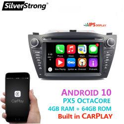 Silverstrong CarPlay DSP السيارات مشغل دي في دي سيارة بنظام Android 10 GPS خريطة WiFi راديو RDS Bluetooth لنظام Hyundai IX35 Tucson 2009-2015
