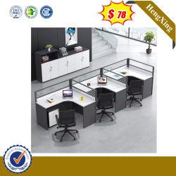 Mobilier de bureau commercial rond simple socle pour ordinateur portable ordinateur de bureau de la partition de verre