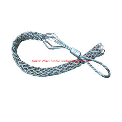 Attacchi per cavi in metallo maniglie di trazione a cestello per impieghi pesanti con rotazione Copertura a rete metallica in acciaio a occhiello forgiato