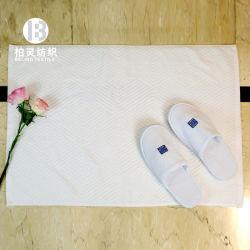 Katoenen van 100% Elegante Aangepaste Witte Badmat voor het Hotel van de Ster