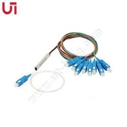 FTTH Council 1*8 PLC Splitter SC/UPC do tipo Mini Tubo de Aço G657A1 de Fibra Óptica