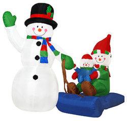 Прелестная надувные снежную бабу для рождественских вечеринок (CS-007)