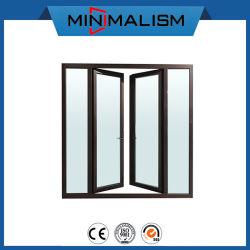 주문을 받아서 만들어진 표준 안전 문 두 배 알루미늄 여닫이 창 문