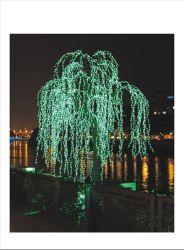 Il fiore di plastica della frutta lascia gli indicatori luminosi conservati in vaso dell'albero di paesaggio LED dei bonsai delle parti di illuminazione della decorazione