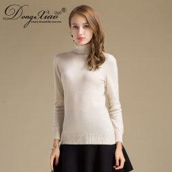자라목 스웨터 스웨터 판매가 100%년 캐시미어 천 숙녀에 의하여 뜨개질을 했다