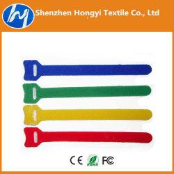 Logo /Adjustableprinted autobloquant Crochet et boucle Velcro des attaches de câble