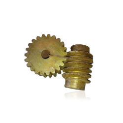 Messingendlosschrauben-Rad-Welle und Gang-Zahntrieb-Rad-Welle-gutes Preis Makishinko Doppelt-Gewinde, das multi Anfangsmanuelles metrisches Duplexmetalmessingendlosschrauben-Rad einschlägt
