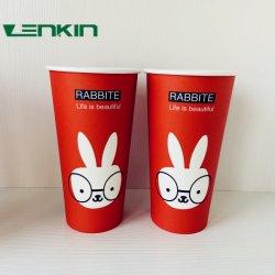 사탕수수 종이 컵 맞춤 맞춤 벽 로고 아이템 스타일 커피 PCS 컬러 더블 디자인 인쇄