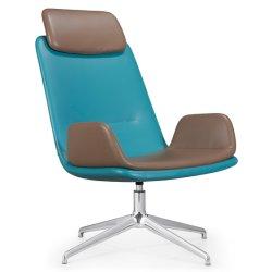 Cómodo y duradero de espuma de molde giratorio cuero sillón reclinable silla de salón de lectura