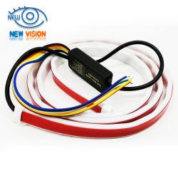 RGB DRL 주간 주행등 리어 트렁크 LED 스트립 라이트 브레이크 방향 지시등 플래시 경고등 차량 테일 라이트 LED