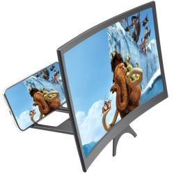 Hot vender pantalla curvada en 3D Diseño cerrado de la película Amplificador de vídeo HD móvil ampliador de pantalla pantalla plegable amplificador