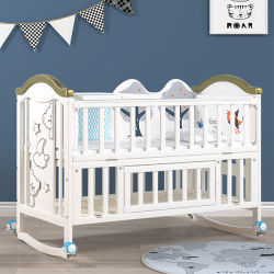 أسرّة خشبية مريحة بسرير للأطفال حديثي الولادة وسرير تعليق للأطفال من الطبيعة وسرير من القطن